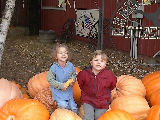 I think I just sat on a pumpkin stem ... OUCHIE !!