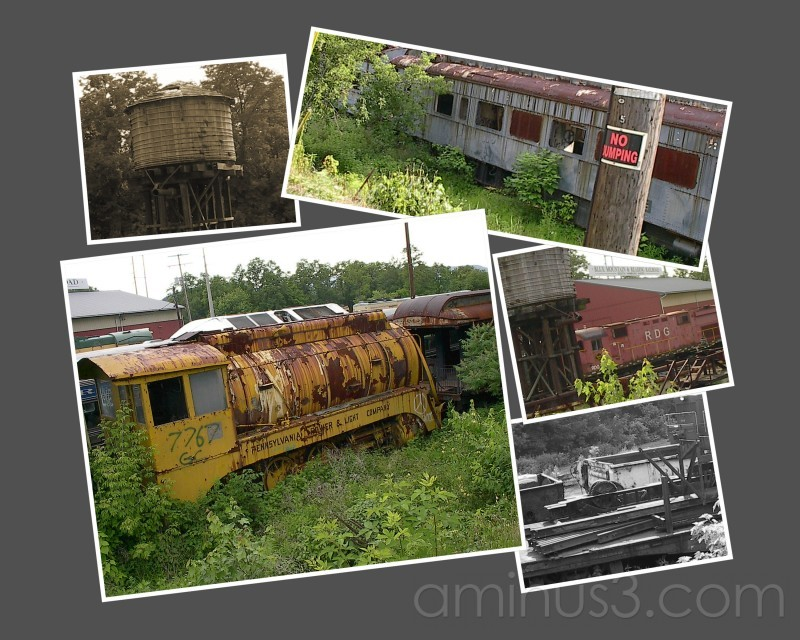 Train Yard Collage