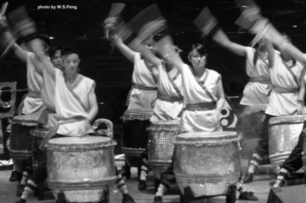 Chinese Drums Playing