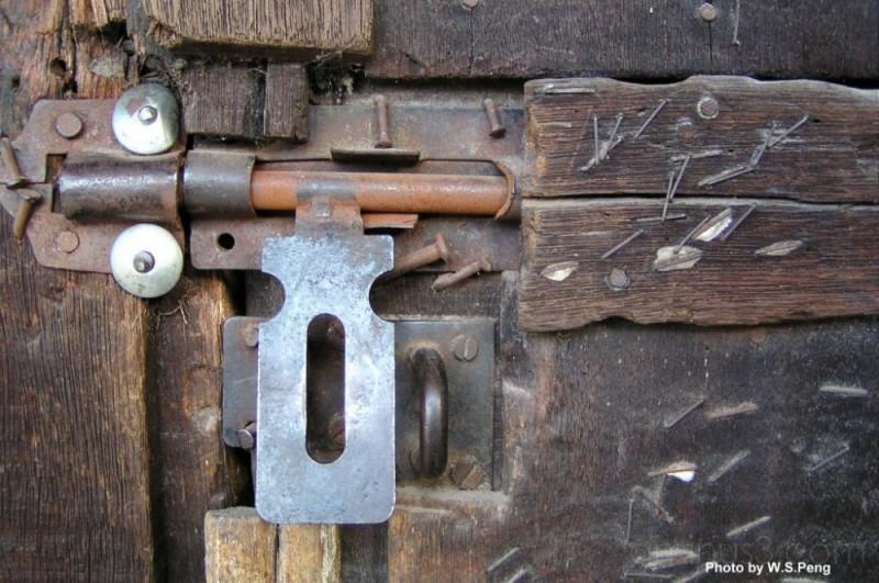Rural Wooden House's Lock