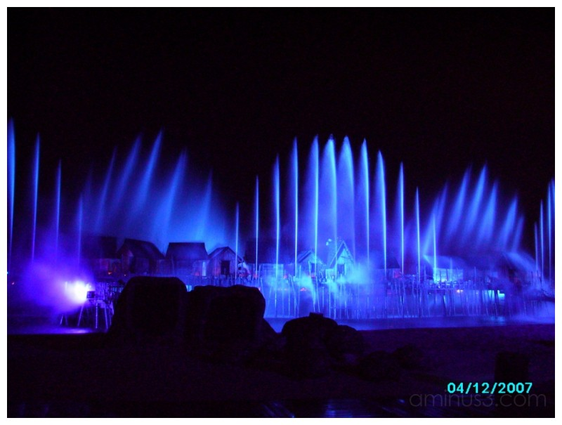 Musical Fountain/Show at Sentosa Island,Singapore