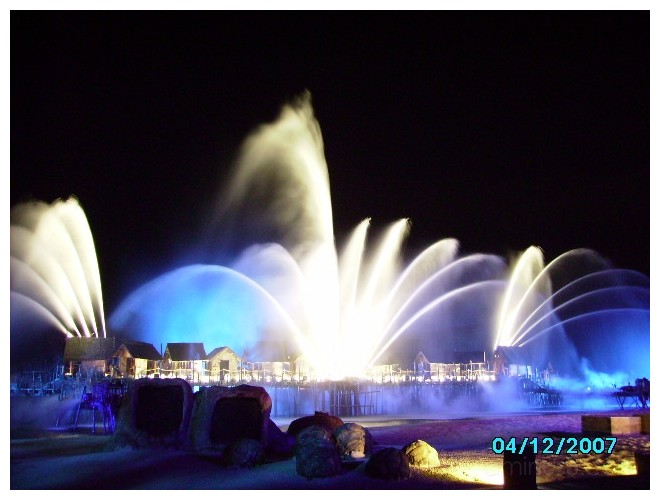 Musical Fountain Show at Sentosa Island,Singapore