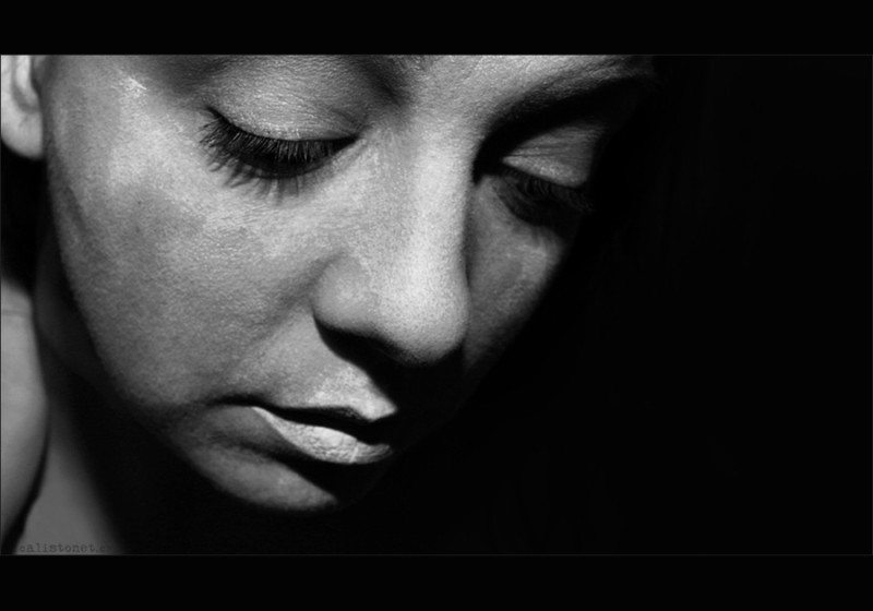 portrait, face, female, experimental photography