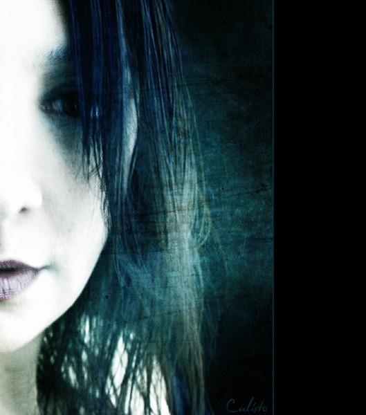 portrait, face, blue, view, pain, regrets