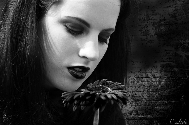 black, flower, portait, female, gothic, dark, emot