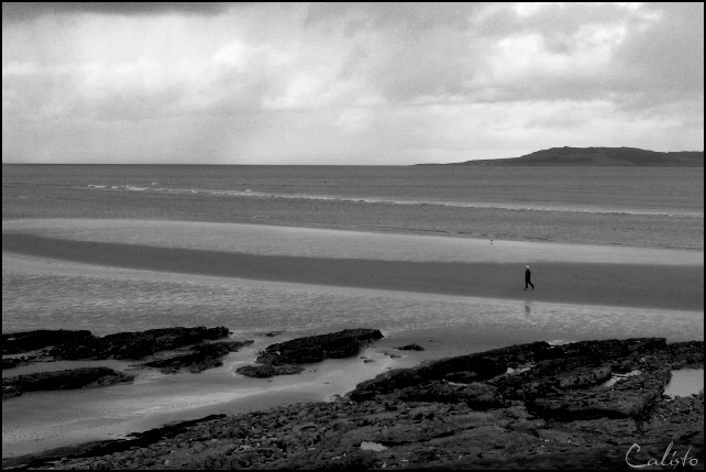 ireland, northcoast, see, alone