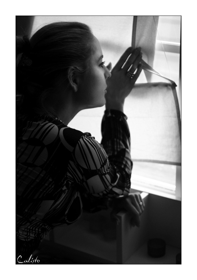 portrait, window, silence, light, available light,