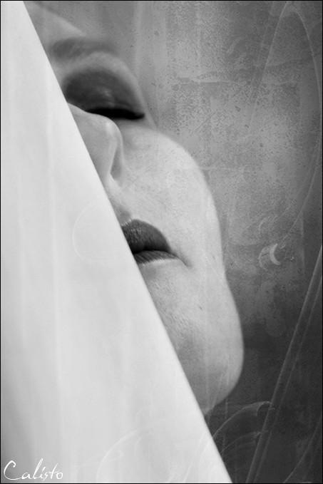 white, ghost, portrait, cut, close-up, garbo, lie,