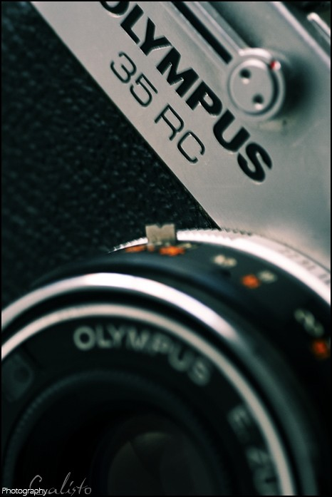 olympus, rc 35, camera, detail