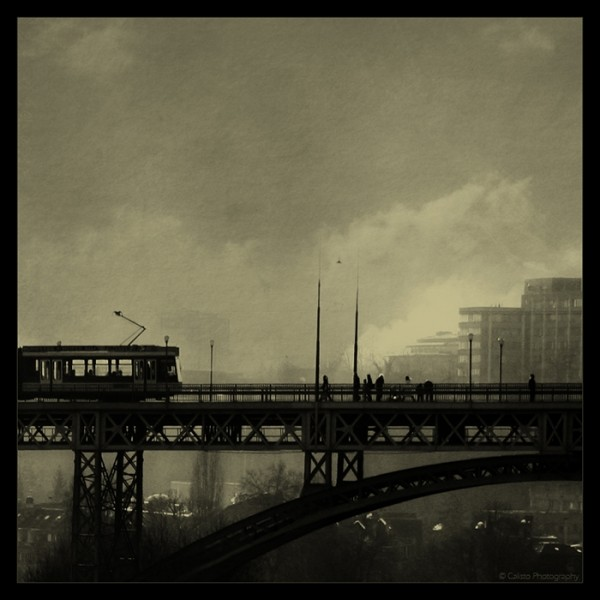 bridge, vintage, cityscape, ease, mind