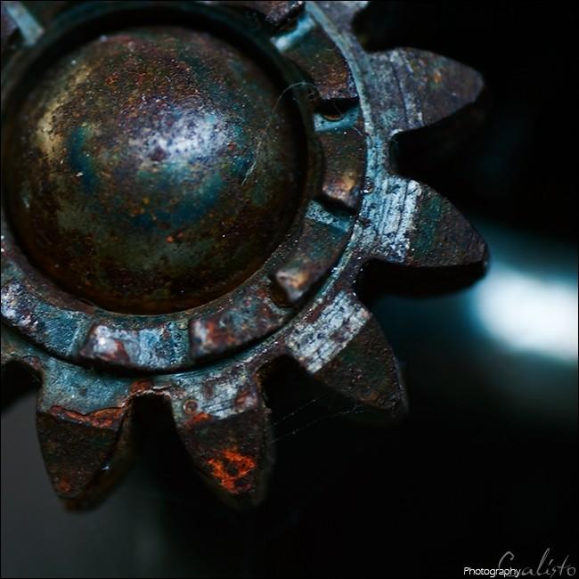 wheel, rust, turning, stirring, soundless