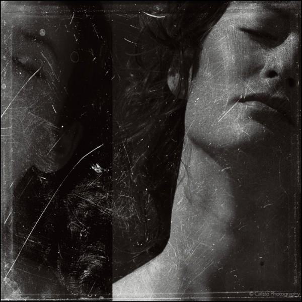 portrait, female, passion, seduction, b/w