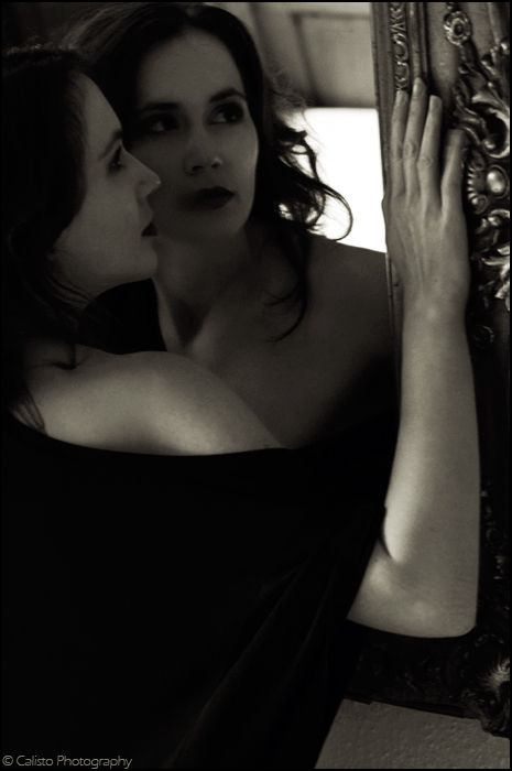 b/w mirror emotive