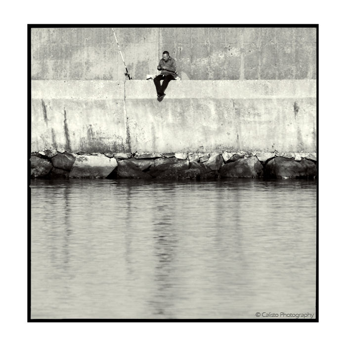 fisher, lonesome, lonely, man, river, fishing, squ