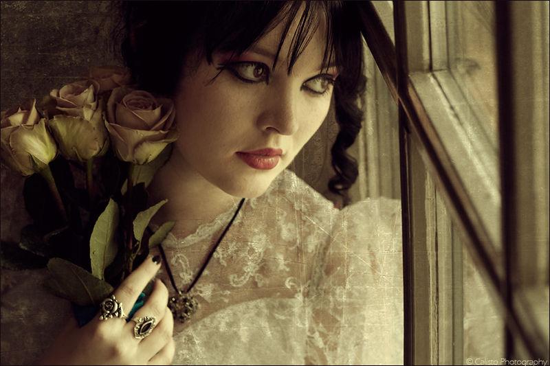 roses, longing, vintage, portrait, melancholie, ro