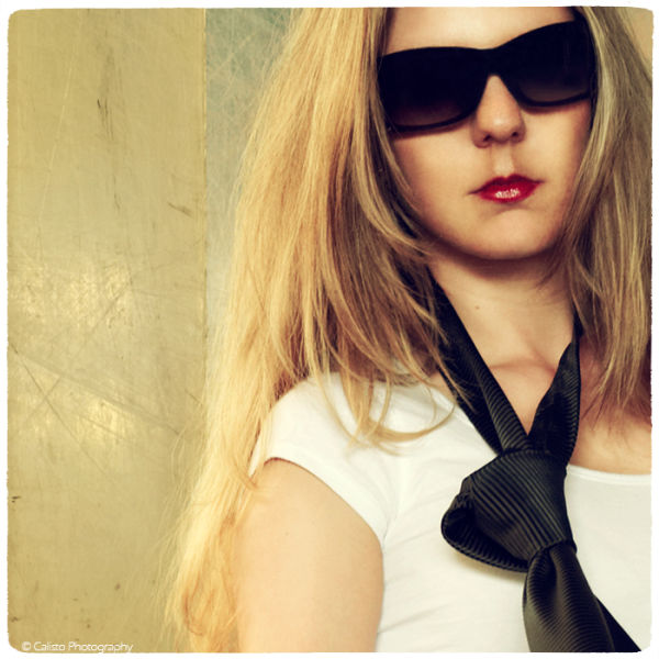portrait, retro, women, sunglasses,