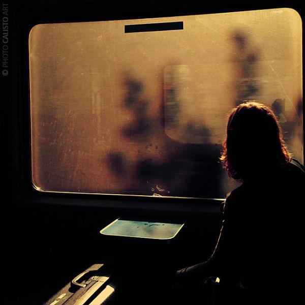 square, life, train, traveller, sunlight, mist, wi