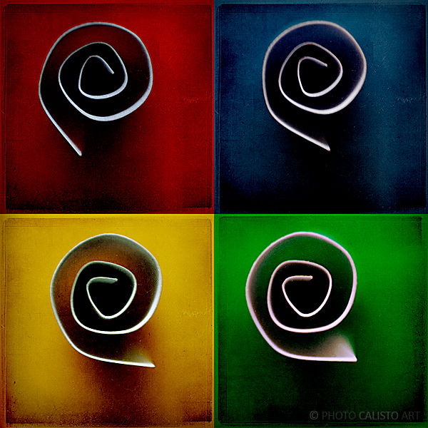 swirls, red, yellow, green, blue, square