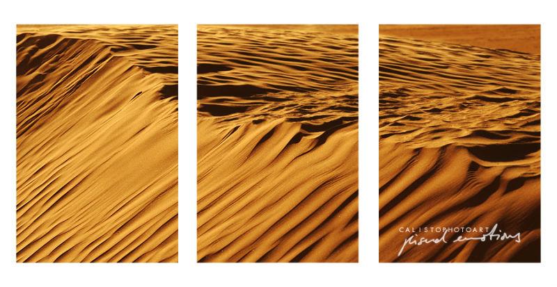 desert, silence, freedom, sun, sand, tryptichon