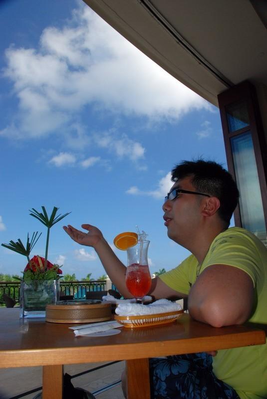 My BF in resort