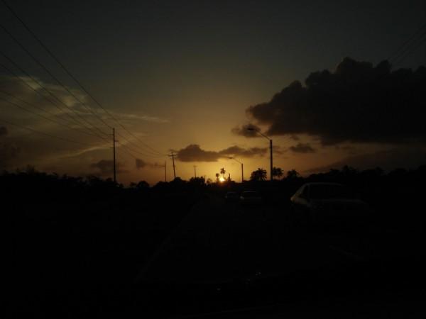 Sundusk on Trinidad Streets
