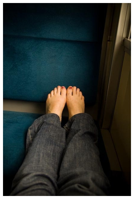 self foot portrait