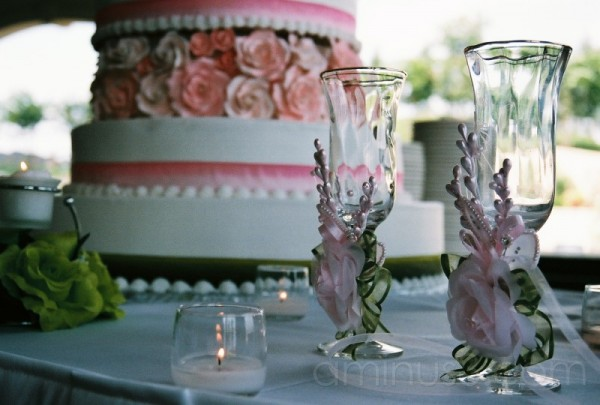 Wedding Series: Cake & Glasses