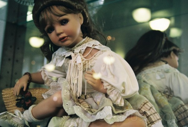 Doll with basket