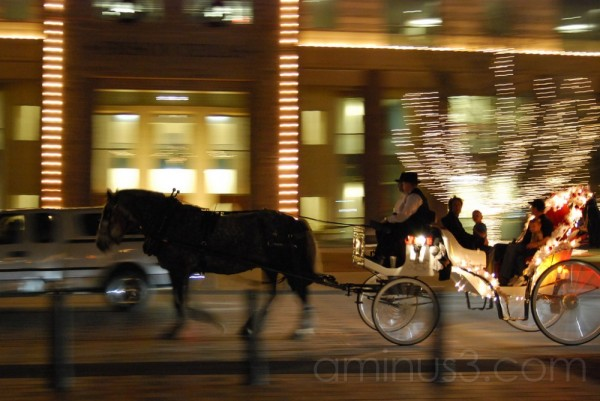 Frisco Square Lights: Horse & Carriage