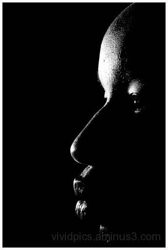 In the dark.