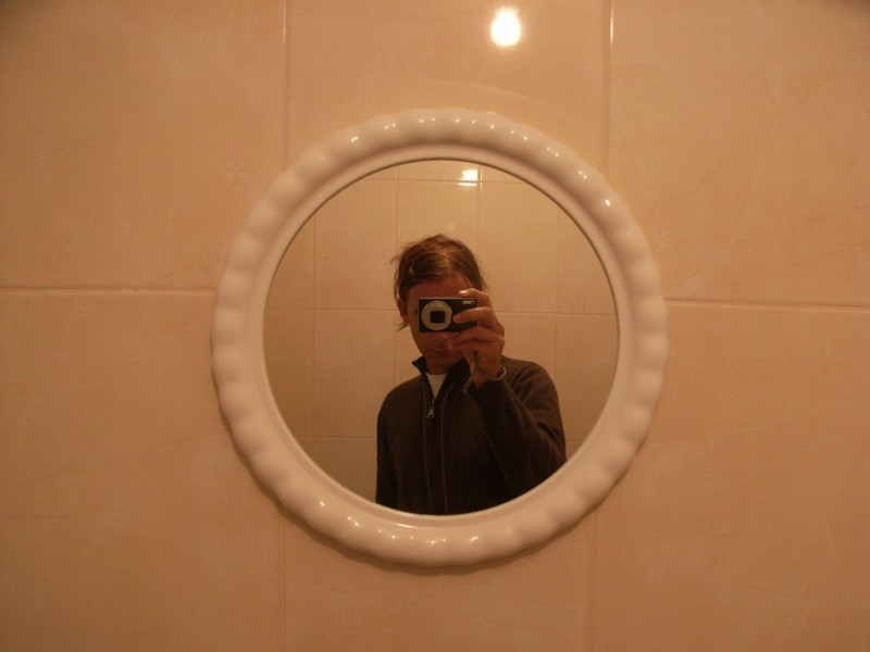 Self Portrait in a Toilet.