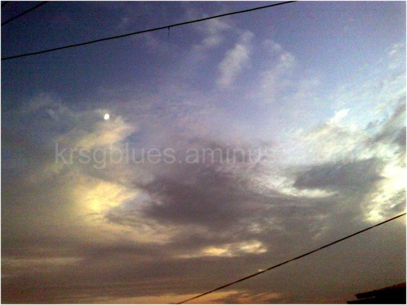 Evening sky over Kurseong.
