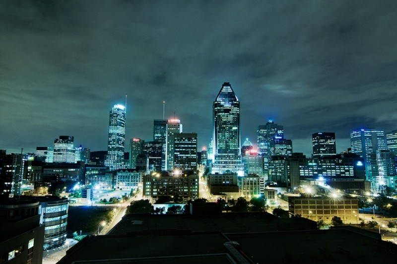 Montréal vue du toit de la Dow