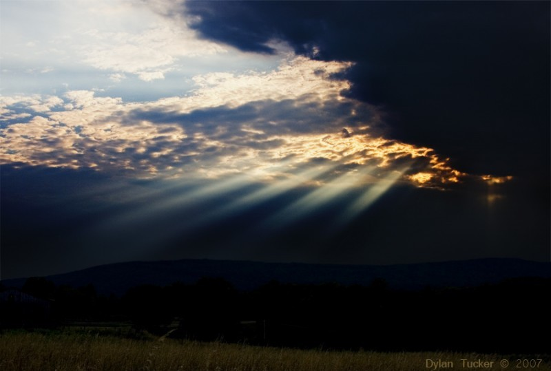 rays of light through the clouds