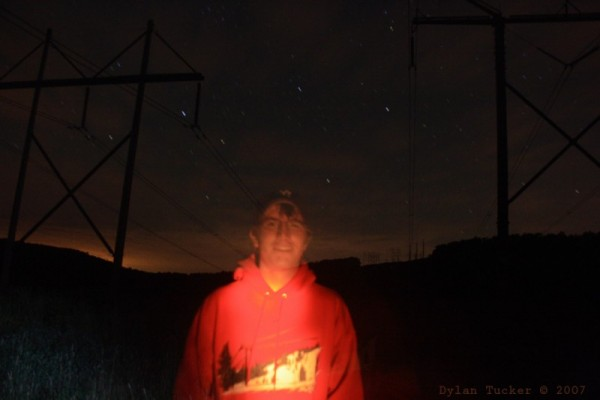 self portrait with star trails