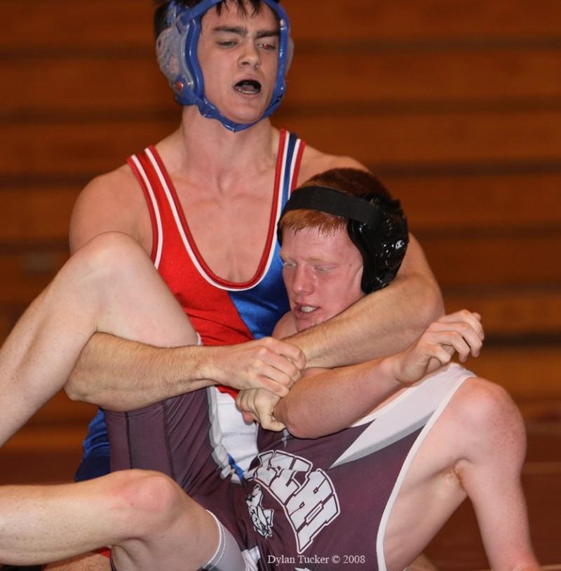 high school wrestling match
