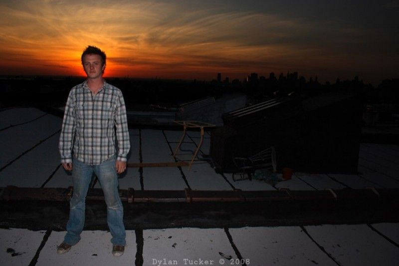 Chris ayer in the sunset