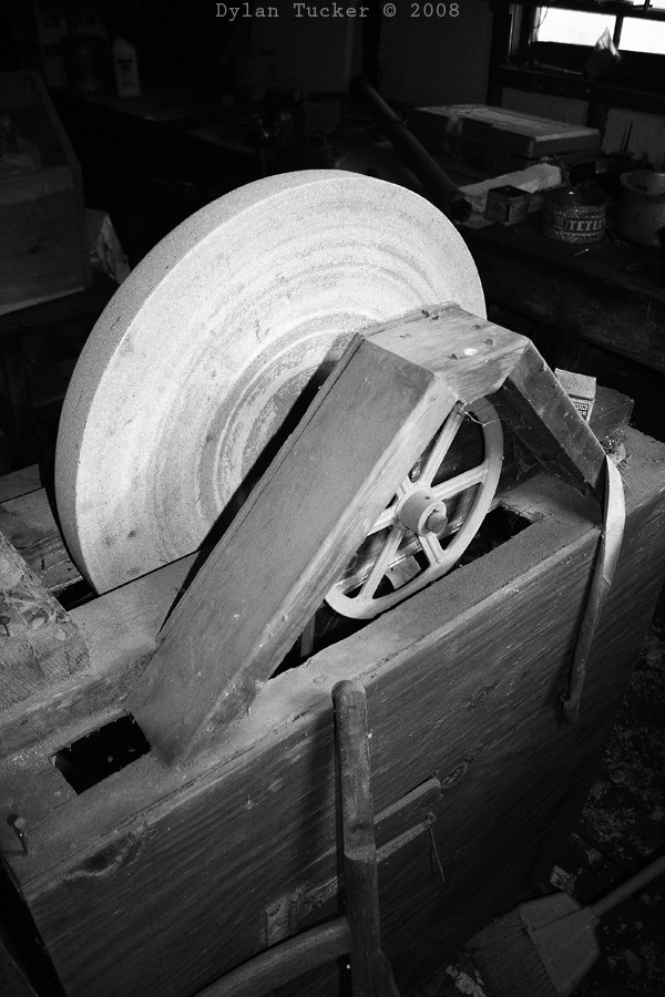 Wet wheel from an old farm