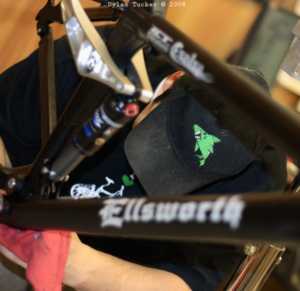 working on an ellsworth bike