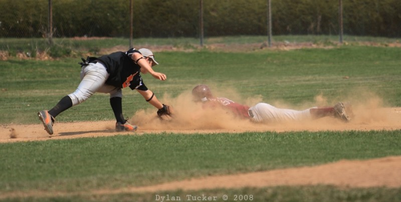 diving to third base