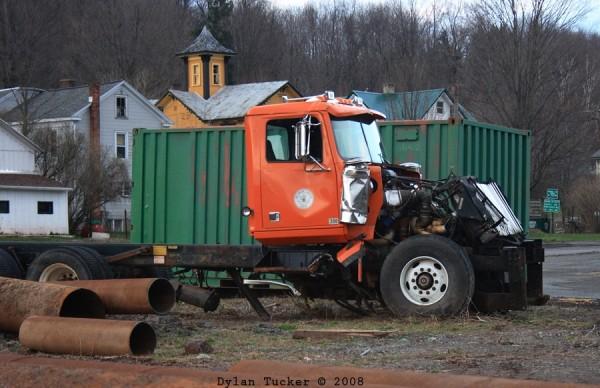 an old junk truck