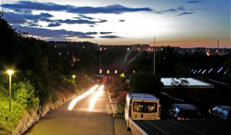 car, lights, view