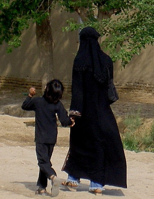 afghan mother and child