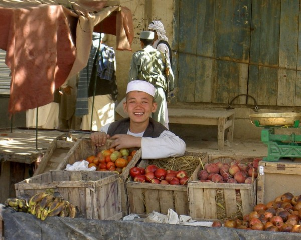 Young vendor in Aqcha