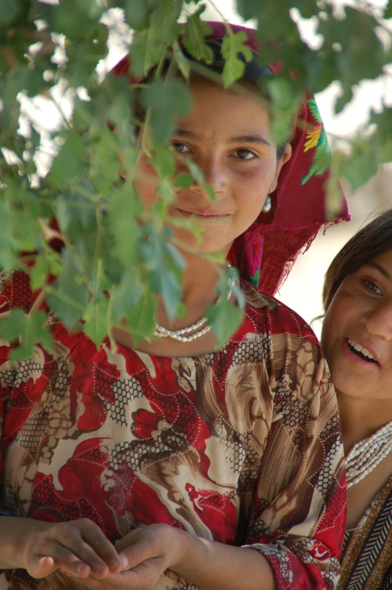 girls from rural afghan village