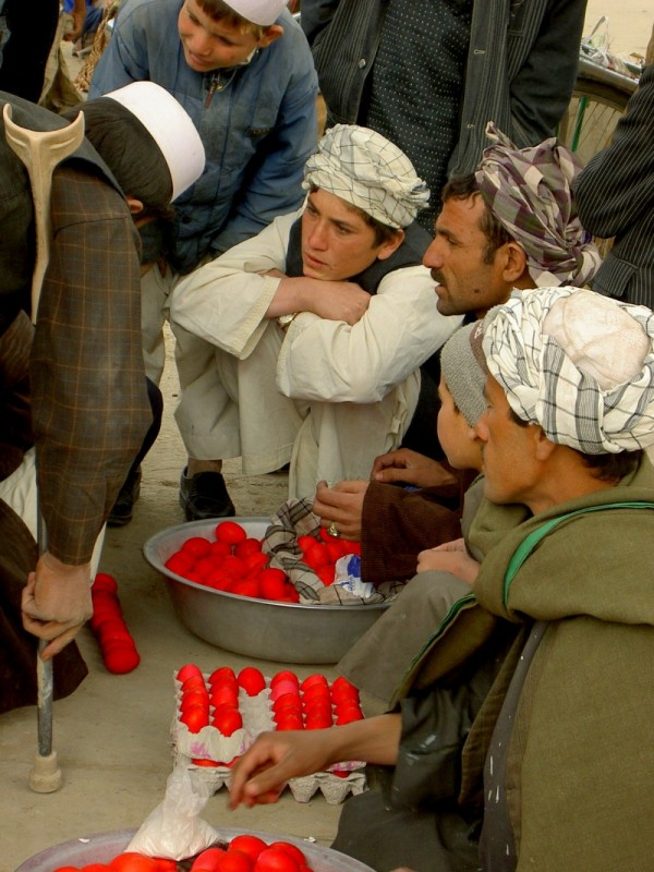 red eggs and Turkmen