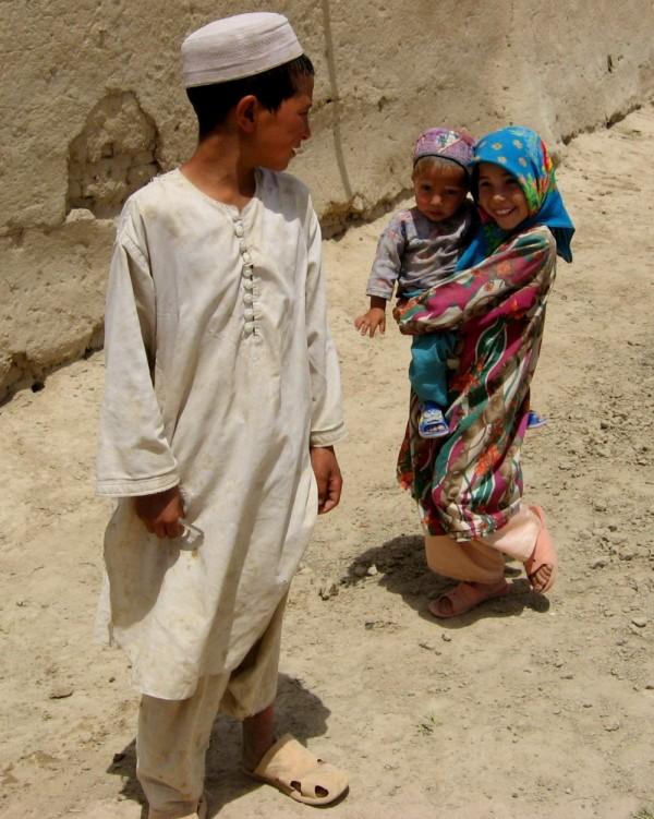 Turkmen children  nw of afghanistan