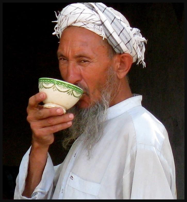 afghan  and tea