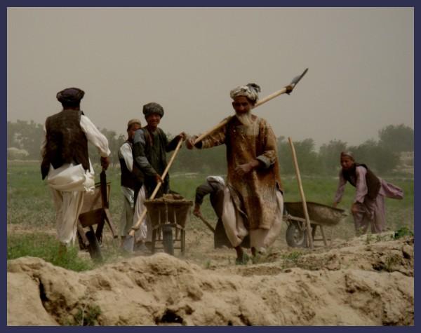 Turkmen at work