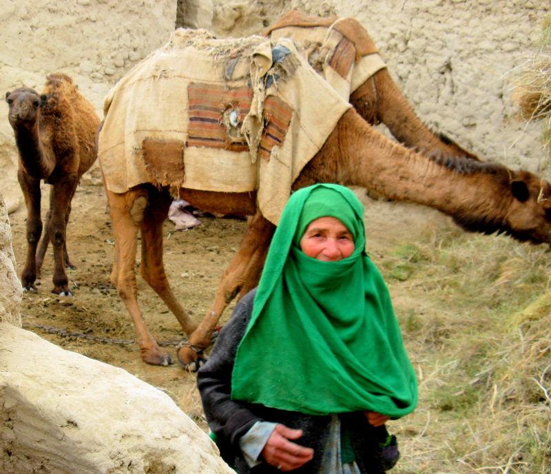 Afghan village woman